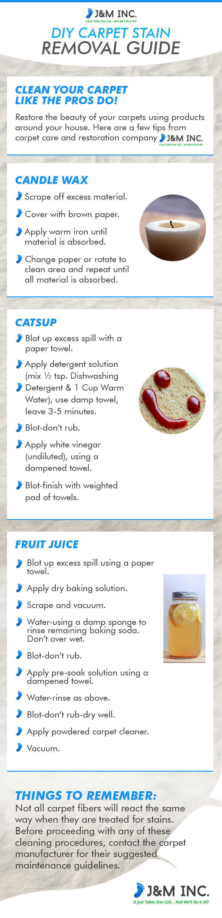 DIY Carpet Stain Removal Guide Infographics