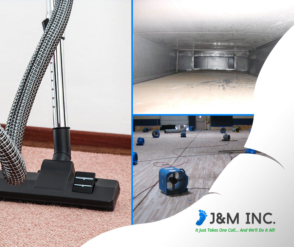 J&M Inc. is an expert on water damages, air duct cleaning, and carpet restoration.