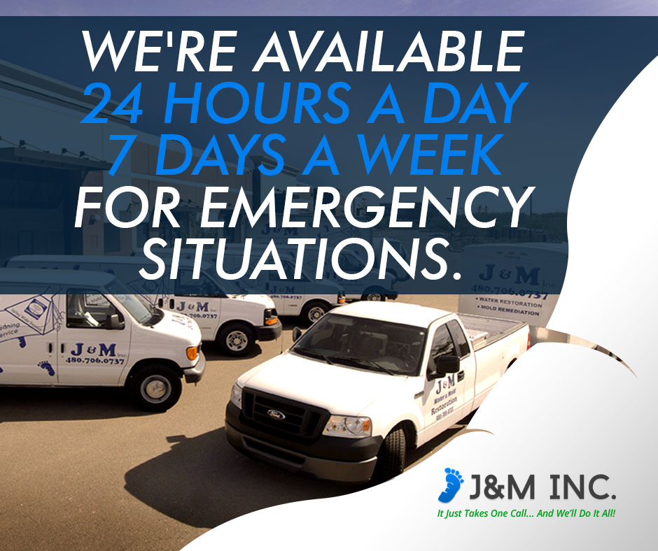 J&M Inc. is available to address concerns 24/7.